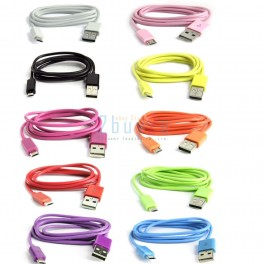 LOT OF 750 Color Micro USB Data Cable for Samsung HTC BlackBerry Amazon Kindle