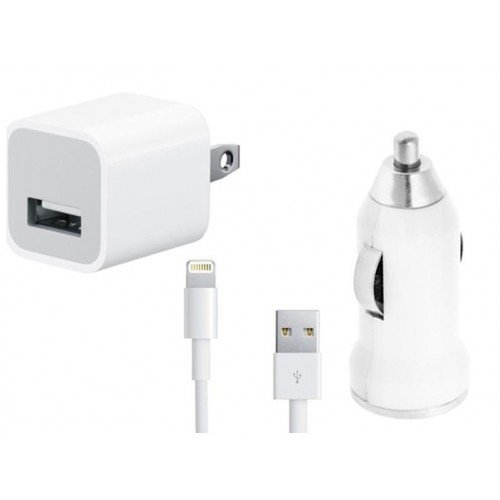3-1 iphone 5 wall car usb charger